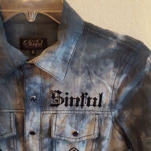 Sinful button down shirt